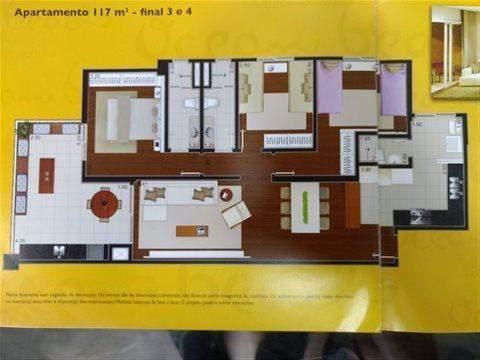 Apartamento à venda em Guarujá (Jd Astúrias), 3 dormitórios, 1 suite, 3 banheiros, 2 vagas, 117 m2 de área útil, código 29-834 (foto 3/7)