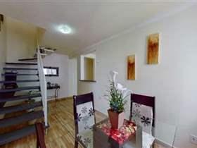Cobertura em condomínio, 2 dorms, 2 wcs, 2 vagas, 90 m2 úteis
